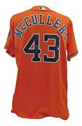 Lance Mccullers 2017 Game Used Houston Astros Away Jersey World Series Year Mlb