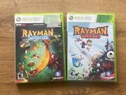 Xbox 360 Rayman Legends Gamestop Edition + Rayman Origins Excellent Tested Works