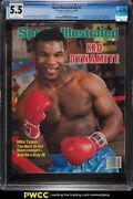 1986 Sports Illustrated Newsstand Mike Tyson 1st Cover V64 1 Cgc 5.5