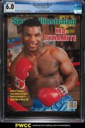 1986 Sports Illustrated Newsstand Mike Tyson 1st Cover V64 1 Cgc 6