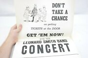 Leonard B. Smith Band Concert Poster Donand039t Take A Chance On Tickets At The Door