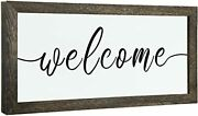 Welcome Sign For Home Decor - Rustic Farmhouse Sign For Living Room Modern Fa...