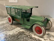 Large Vintage Early 1930andrsquos Structo Pressed Steel Mail Truck Buddy I Keystone