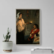 Florence Nightingale With Her Lamp / Crimean War 1891 Photo Poster Art Print