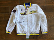 Chris Mullin Signed Mitchell Ness Golden State Warriors Jacket Autographed Psa