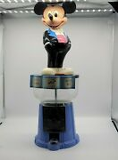 Vintage Mickey Mouse Bubble Gum Machine And Bank, 60 Yrs With You, By Superior Toy