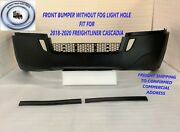 2018 2019 2020 Freightliner Cascadia Front Bumper W/ Out Fog Light Holes