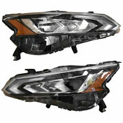 For Nissan Altima Headlight 2019 Pair Rh And Lh Side Led W/o Auto Leveling