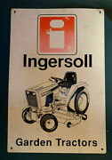 Vintage Ingersoll Case Garden Tractor Genuine Dealer Sign Large Rare 2and039x3and039
