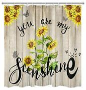 Hvest Sunflower Farmhouse Shower Curtain Rustic Floral Shower Curtain You Are...
