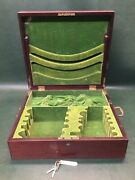 Fine Antique Theo B Starr 5th Ave Reed And Barton Wooden Silverware Storage Chest