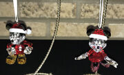 Disney Mickey Mouse And Minnie Mouse Christmas Ornament Set 2