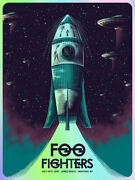 Foo Fighters Poster 7/14/18 Jones Beach Ny Signed And Numbered /25 Foil A/e