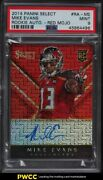 2014 Select Red Mojo Mike Evans Rookie Rc Auto /10 Ra-me Psa 9 Mint