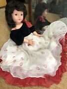 """Effanbee Doll 27"""" Little Lady Original Gown And Tag Mint Anne Shirley Composition"""