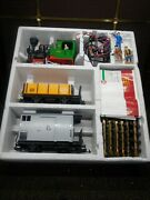 Lgb 72960 G Scale Train Set, Complete With Track Engine Freight Car And Caboose