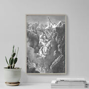 Gustave Dore - The Death Of Korah Dathan And Abiram 1866 Poster Art Print
