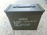 Metal Ammo Can Box 50 Cal Tall Army M728 Fuze Military 50cal M2a1
