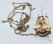 Small German Cuckoo Clock Movement Chain And Hands Parts