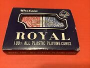 2-pack Of Royal 100 Plastic Playing Cards Set - Washable Waterproof