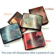 Camouflage Fog Waxed Vegetable Tanned Retro Oil Rich Leather Craft Material Diy