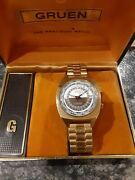 Vintage Gruen Precision 24 Hour Timer Watch A True 24 Hour Movement With Box