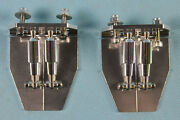 New Silver Cnc Aluminum Trim Tabs 51mmx62mm One Pair For Rc Boat