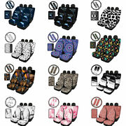 Universal Car Seat Cover Sets With Steering Wheel Cover Seat Belt Pads 8/10pcs