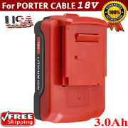 18v Lithium-ion Battery For 18 Volt 3.0ah Porter Cable Pc18b Pc18bl Pc18blx Tool