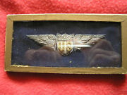 856. Wwi Mint Bullion Us Military Aviatorand039s Wing In Silver And Gold Bullion Nos