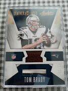 2016 33/99 Absolute Leather And Laces Tom Brady Football/lace Card.