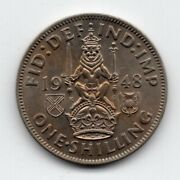1948 Great Britain One Shilling Coin Scottish Crest