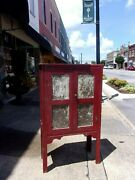Southern Painted Oak And Pie Safe 19thc