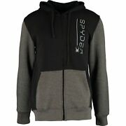 Spyder Menand039s Black And Grey Jersey Hoodie Jacket Size M L Xl