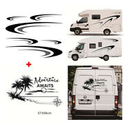 Car Body Side And Rear Stickers Kit Diy Vinyl Graphics Decal For Camper Rv Trailer