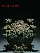 12 Museum Collect Ancient Chinese Bronze Ware Shang Dynasty Dragon Jar Pot