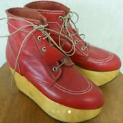 Vivienne Westwood Rockin Horse Red 24cm Size Us 7 Genuine Rare Used From Japan