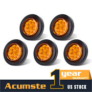 5x Waterproof Side Marker Light Incandescent Clear Amber Lamps 12v For Truck
