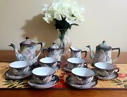 Vintage Imperial Nippon Hand Painted 19piece Moriage Dragon Tea Set And Coffee Pot