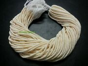 100 Strand Off White Pearl Rondelle Smooth 3mm Gemstone Loose Chid Beads 13inch
