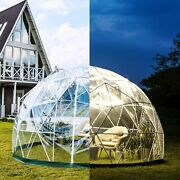 Vevor Bubble Tent Garden Igloo 9.5/12ft With Led Pvc Cover Geodesic Greenhouse