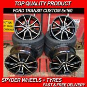 18and039and039 M Sport Style Alloy Wheels Black P Fits Ford Transit Custom And Tyres