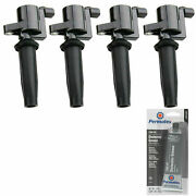 4 Pack Ignition Coil + Grease For Ford Lincoln Mazda Mercury 2.5l 2.0l 2.3l L4