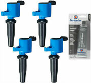 4 Pack Racing Ignition Coil + Grease For Ford Lincoln Mazda 2.5l 2.0l 2.3l L4