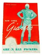 1944 Nfl Championship Game Program Packers Victory Over The Giants Ex