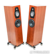 Clearwave Symphonia 1 Floorstanding Speakers Cherry Pair Upgraded Isoacoustics