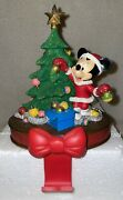Disney Minnie Mouse Christmas Stocking Hanger With Box