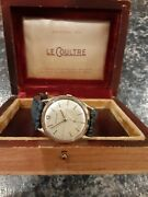 Vintage Lecoultre Menand039s Watch Solid 14k Gold Case 17jewels Cal 4173cw 1950s