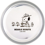 [character Goods] Peanuts Snoopy Stainless Steel Plate/beagle Scout/woodstock