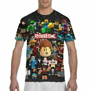 Roblox Characters Game Galaxy Space Print Men T-shirt Novelty Short Sleeve Tops